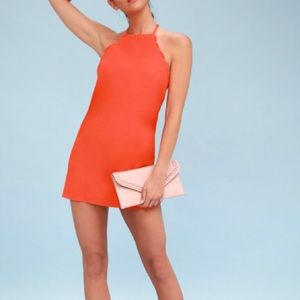Lulus: 💃🏻NEWEndlessly Endearing Red Coral Dress!